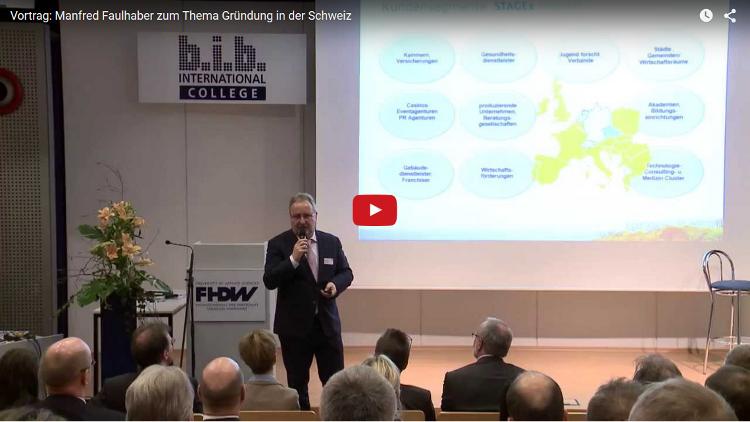 Vortrag zur Gruendung in der Schweiz